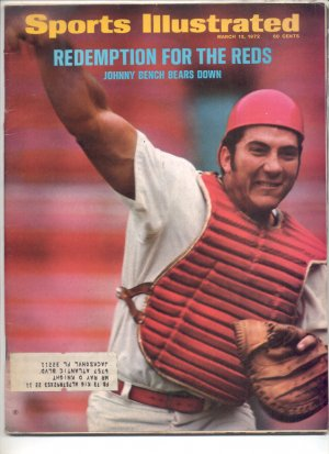 * 1972 SPORTS ILLUSTRATE�D REDS JOHNNY BENCH