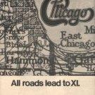 CHICAGO XI POSTER TYPE PROMO AD 1977+ BONUS