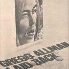 GREG ALLMAN LAID BACK POSTER TYPE PROMO AD 1973