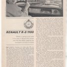 1964 RENAULT R-8 R8 1100 ROAD TEST CAR AD