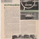 1958 CITROEN ID19 VINTAGE ROAD TEST 3-PAGE