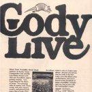 1974 COMMANDER CODY CODY LIVE POSTER TYPE AD