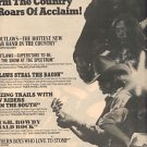 OUTLAWS LADY IN WAITING POSTER TYPE PROMO AD 1976