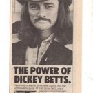 1978 DICKEY BETTS ATLANTAS BURNING DOWN POSTER TYPE AD