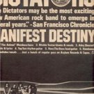 1977 THE DICTATORS  POSTER TYPE AD