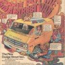 DODGE STREET VAN POSTER TYPE PROMO AD 1976