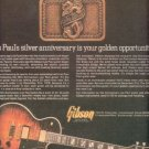 GIBSON LES PAUL SILVER ANNIVERSARY PROMO AD 1978