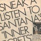 CARLOS SANTANA INNER SECRETS POSTER TYPE PROMO AD