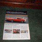 1970 DODGE SCAT PACK BROCHURE CAR AD CHARGER GT DART