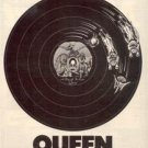 1977 QUEEN A DAY AT THE RACES POSTER TYPE AD