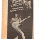 1978 MARK FARNER BAND NO FRILLS POSTER TYPE AD
