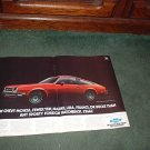 1978 CHEVY MONZA VINTAGE CAR AD 2-PAGE
