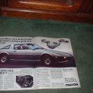 1979 MAZDA RX-7 RX7 VINTAGE CAR AD 2-PAGE