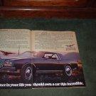 1979 BUICK RIVIERA VINTAGE CAR AD 3-PAGE