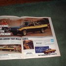 1978 PLYMOUTH ARROW VINTAGE TRUCK CAR AD 2-PAGE