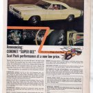 1968 1969 DODGE CORONET SUPERBEE SUPER BEE CAR AD