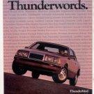 1985 FORD THUNDERBIRD VINTAGE CAR AD