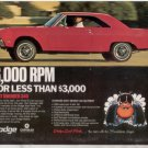 1969 DODGE DART SWINGER 340 VINTAGE CAR AD