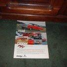 1967 1968 DODGE CORONET R/T ROAD RUNNER VINTAGE CAR AD