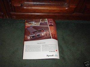1967 BARRACUDA VINTAGE CAR AD