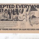 1976 THE TUBES YOUNG AND RICH POSTER TYPE AD