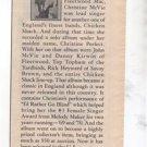 1976 CHRISTINE MCVIE FLEETWOOD MAC POSTER TYPE AD