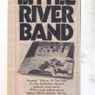 1976 LITTLE RIVER BAND POSTER TYPE AD