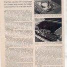 1962 FIAT 1500 ROAD TEST CAR AD