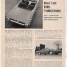 1962 FORD THUNDERBIRD ROAD TEST CAR AD