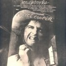 1975 ALICE COOPER SCRAPBOOK POSTER TYPE TOUR AD