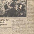 1977 LYNYRD SKYNYRD ARTICLE ADVERT AD