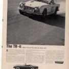 1962 TRIUMPH TR-4 TR4 VINTAGE CAR AD