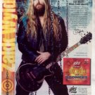 * ZAKK WYLDE BLACK LABEL SOCIETY GHS GUITAR AD