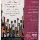 * THE FIRST WORLD GUITAR CONGRESS AD