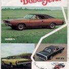 1968 DODGE SCAT PACK BROCHURE AD CHARGER CORONET DART