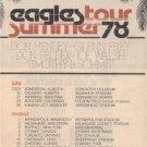 1978 EAGLES POSTER TYPE TOUR AD