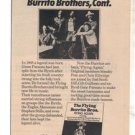 1975 THE FLYING BURRITO BROTHERS POSTER TYPE TOUR AD