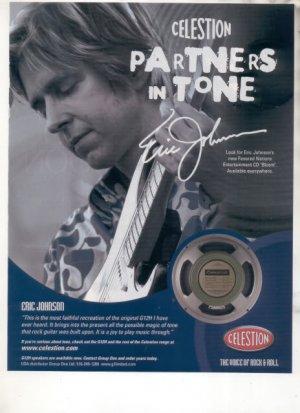 * 1974 FENDER GUITAR STRINGS POSTER TYPE PROMO AD