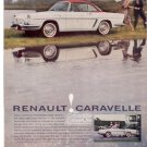 * 1960 1961 RENAULT CARAVELLE VINTAGE CAR AD