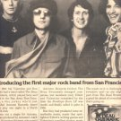 1975 THE BEAU BRUMMELS BAND POSTER TYPE AD