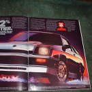 1984 1985 DODGE SHELBY CHARGER VINTAGE CAR AD 2-PAGE