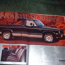 1984 1985 MAZDA B2000 SPORT LE VINTAGE TRUCK AD 2-PAGE