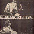 1976 STEPHEN STILLS LIVE POSTER TYPE AD
