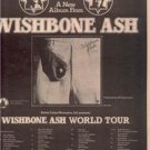 1974 WISHBONE ASH WORLD TOUR CONCERT POSTER TYPE AD