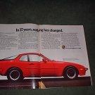 1985 1948 PORSCHE  944 VINTAGE CAR AD 4-PAGE