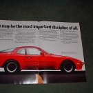 1985 1986 PORSCHE 944 VINTAGE CAR AD 2-PAGE