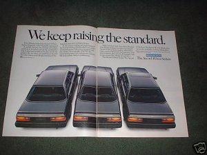 1985 1986 HONDA ACCORD VINTAGE CAR AD 2-PAGE