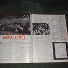 1977 SAAB TURBO ROAD TEST 3-PAGE