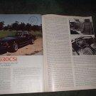 1977 BMW 630CSi 630 CSi ROAD TEST 4-PAGE