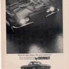 1966 CHEVY CORVETTE  VINTAGE CAR AD